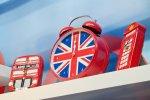 zegar w brytyjskich barwach